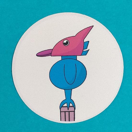 Bird Dude Vinyl Sticker