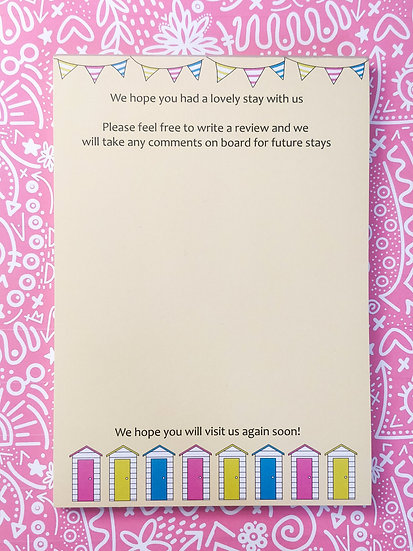 A5 Holiday Let Beach Hut Notepad