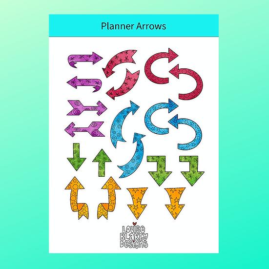Planner Arrow Sticker Sheet