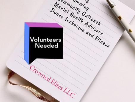 Volunteers Needed Nationwide