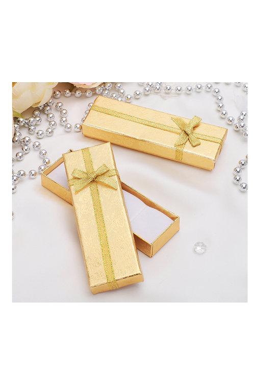 """Коробочка подарочная под цепочку/кулон/часы """"Слиток"""" 12х4, цвет золотой"""