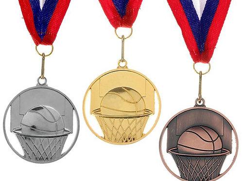 Медаль Баскетбол формовая 01 Размер 6.5 см.