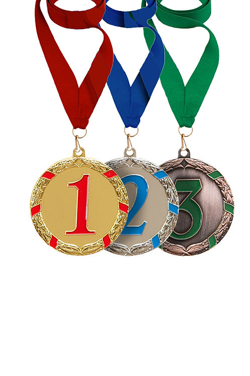 """Медаль П500 """"3 место"""", цвет бронзы, d-50мм, лента в комплекте"""
