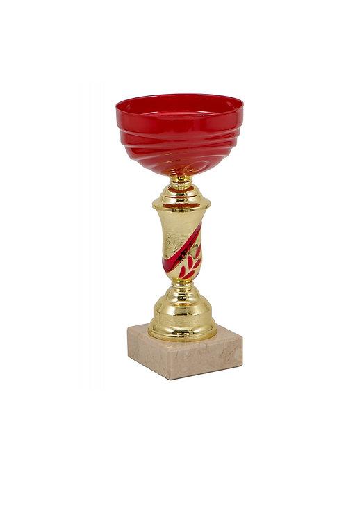 Кубок 017 красный, 17 см