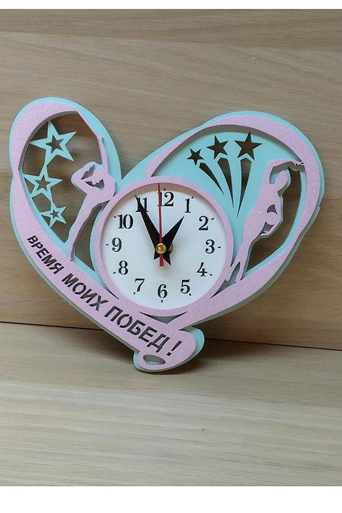 Часы малые настенные «Сердце» 2-х слойные 220х192 мм