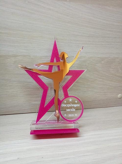 Награда «Звезда» с гравировкой текста