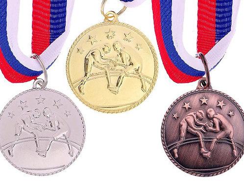 Медаль Вольная борьба С120 Диаметр 3.5 см.