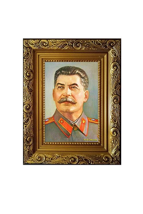 """Сувенир """"Портрет на холсте Сталин И.В."""""""