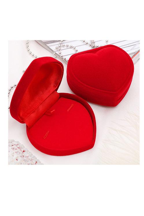 """Футляр под брошь/кулон/браслет/кольцо/серьги """"Сердце"""", 8,5*8*2,5, цвет красный"""