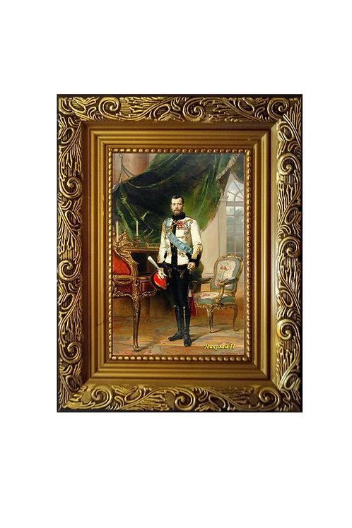 """Сувенир """"Портрет на холсте Николай II"""""""
