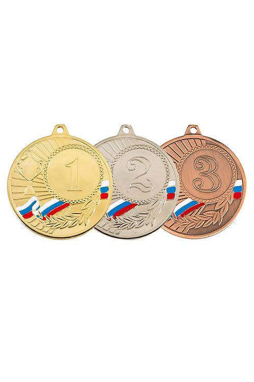 Медаль с лентой, d-45 мм, 3 место, цвет бронзы