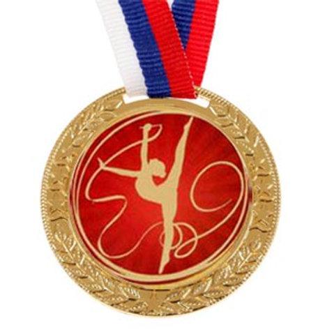 """Медаль с лентой, 50мм """"Художественная гимнастика"""""""
