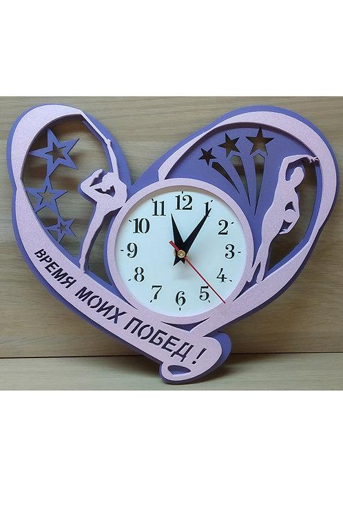 Часы большие настенные  «Сердце» 2-х слойные 300х273 мм