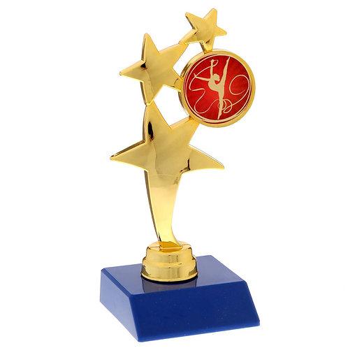 """Фигура 15 см """"Три звезды"""" с эмблемой """"Гимнастка с лентой"""""""