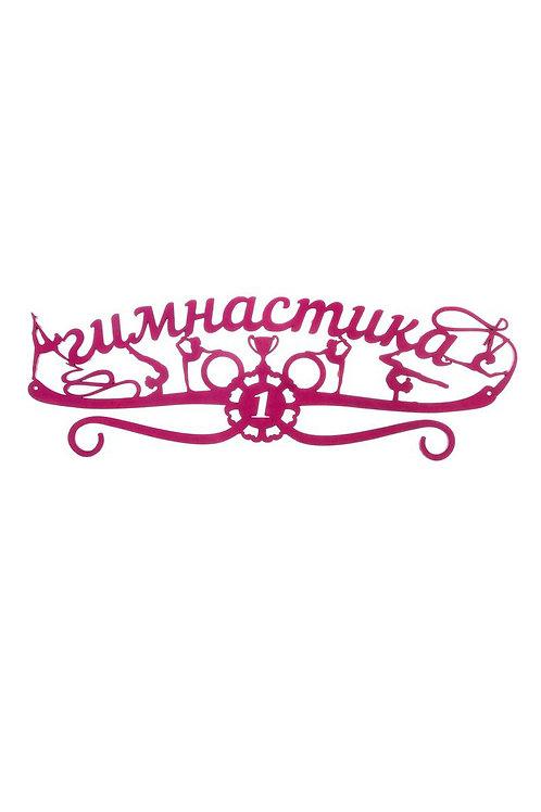 """Медальница 45 х 15 см """"Гимнастика"""", цвет розовый, сиреневый, жёлтый,"""