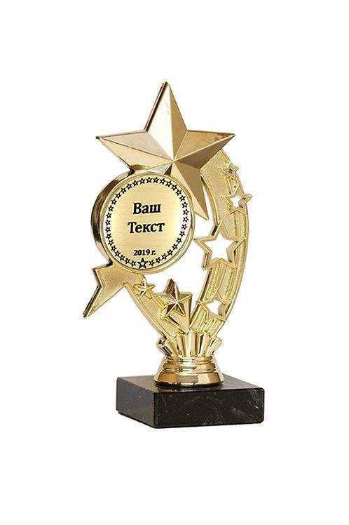 """Награда """"Звезда"""" 19 см с гравировкой вашего турнира"""