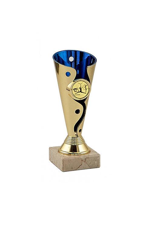 Кубок 036 синий с золотым, высота 15 см