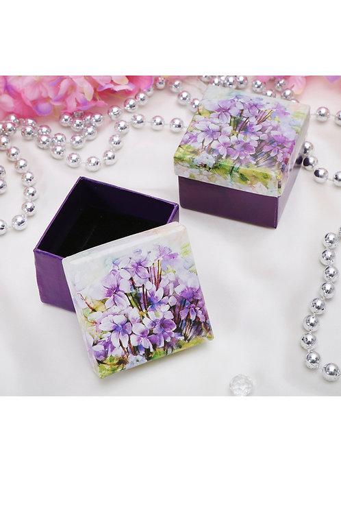 """Коробочка подарочная """"Цветы"""" 5x5x3см"""