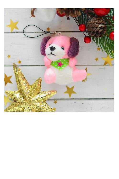 "Мягкая игрушка-подвеска ""Собачка"", звезда на шейке, цвета МИКС"