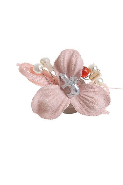 """Брошь """"Текстильный стиль"""" лилия, цвет розовый"""