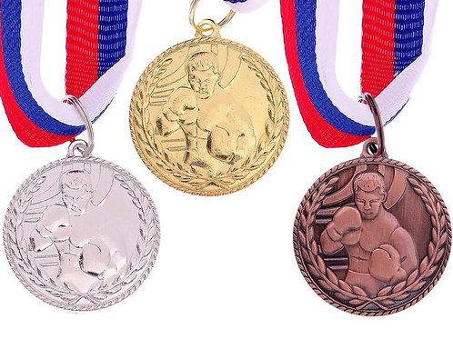 Медаль Бокс 122 Размер 3.5 см.