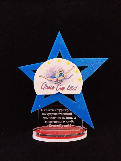 "Награда ""Звезда"" с нанесением логотипа"