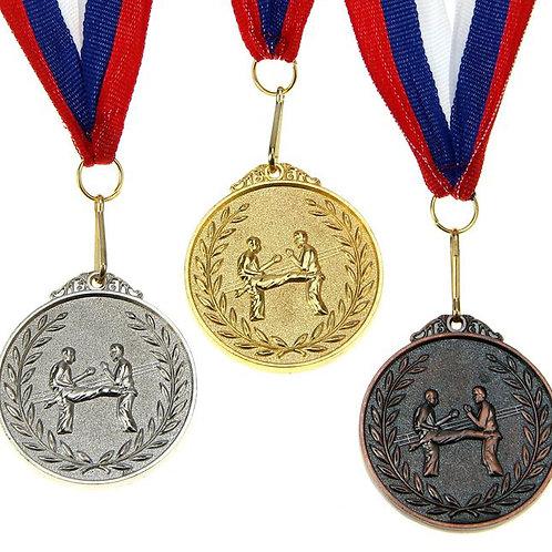 Медаль Боевые искусства С001 Диаметр 4.5 см. Металл.