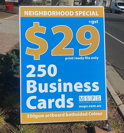 $29 business card free delivery au wide (online purchase only)