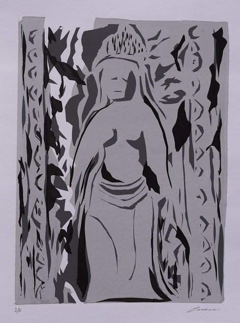 Stone Lady, Silk screen print.