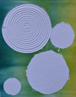 Embossed monoprint