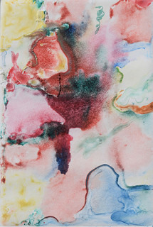 Summer Breeze, watercolour monoprint