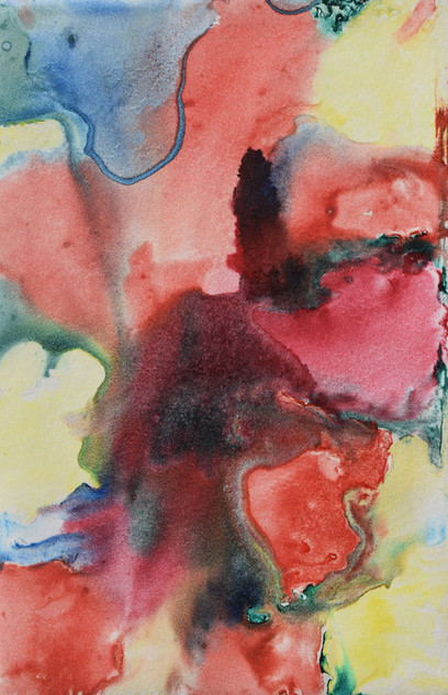 Colours of Summer, watercolour monoprint