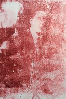 The Last Sitting, monoprint by Fae Kilburn