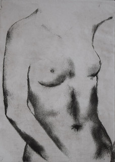 Female Nude, Drypoint etching.