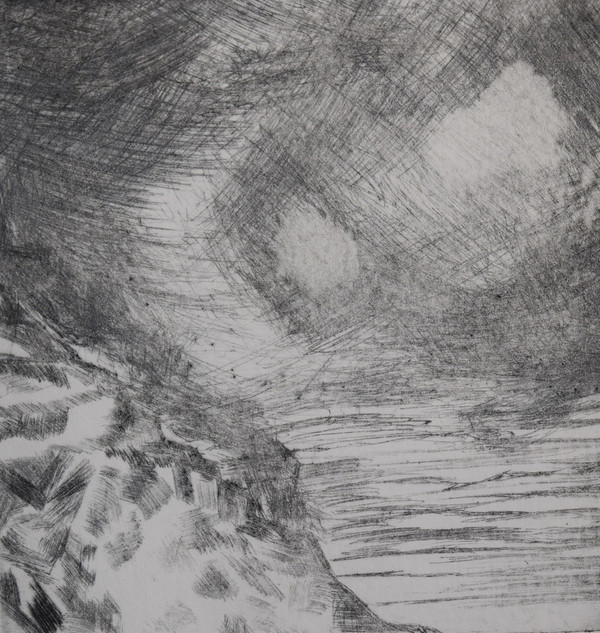 Stormy Seas, dry-point etch