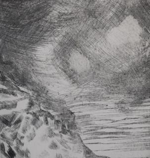 Stormy Seas, dry-point etch