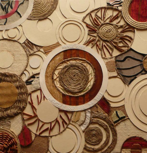 Circles and Sight Loss, Collograph plate.