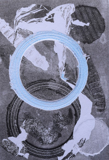 Lost and Found, embossed monoprint
