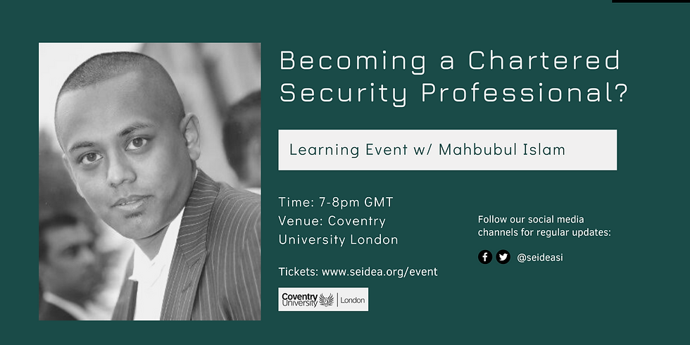 Learning Table: How to become a Chartered Security Professional?