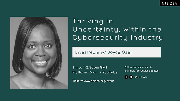 Livestream: Thriving in Uncertainty, within the Cybersecurity Industry