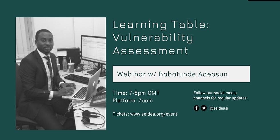 Learning Table: Vulnerability Assessment