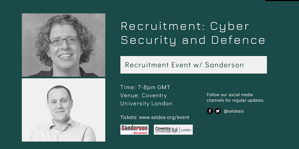Recruitment Event: Cyber Security and Defence