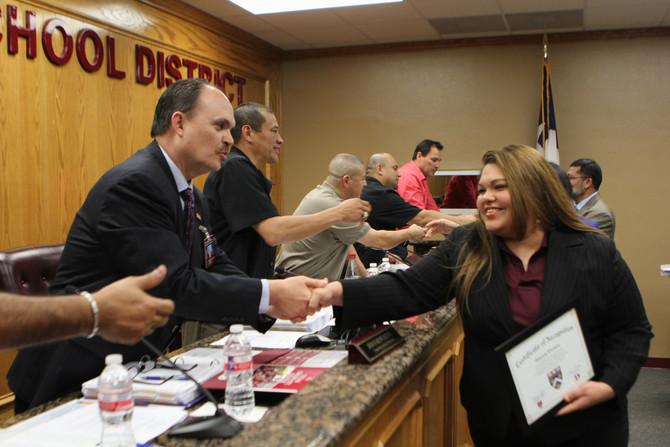 Donna ISD School Board Recognizes Math Teachers