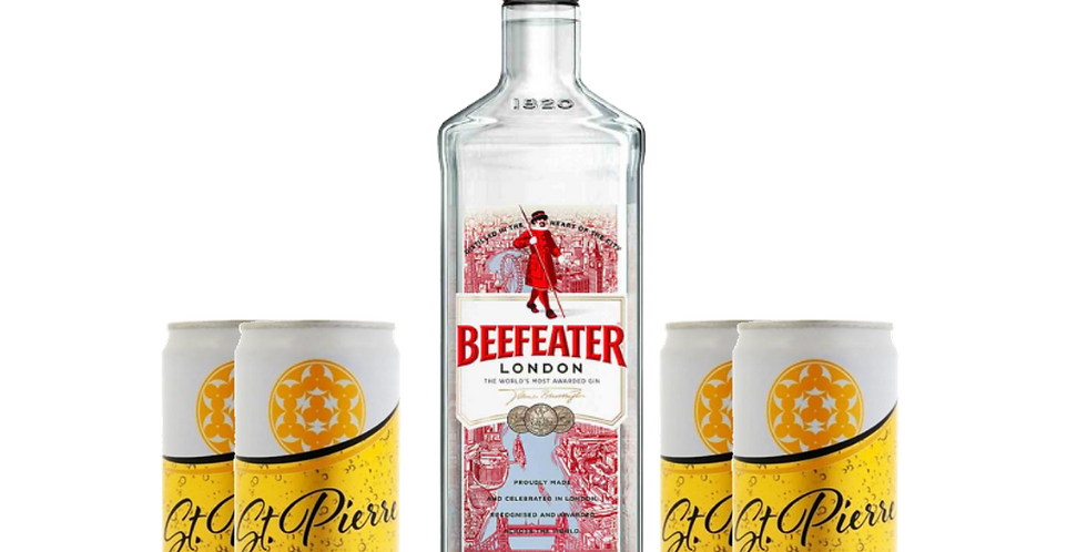 Combo Gin Beefeater + 4 Ginger Tonic St Pierre