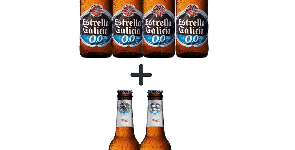 Estrella Galicia garrafa 0% alcool compre 4 e leve 2 grátis
