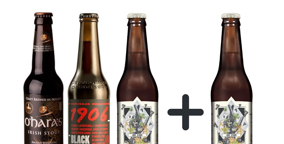 Combo de cervejas pretas