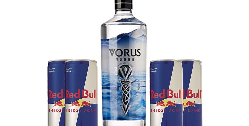 Combo Vorus + 4 un. Red Bull