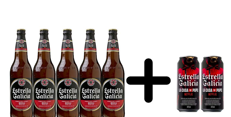 Combo especial Estrella Galicia compre 5 e ganhe 2