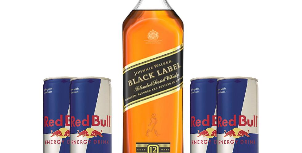 Combo Black Label + 4 Red Bull