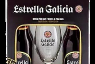 Kit Estrella Galicia Puro Malte + taça